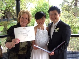 Jenni Bolton Celebrant with couple